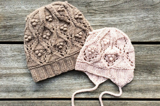 knitting for olive_chunky lace hat pitsineulemyssy