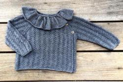 Knitting for Olive Rhubarb wrap – vauvan kietaisuneule (ohje)