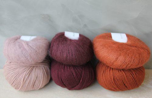 Knitting for olive heavy merinoja ja silk mohaireja
