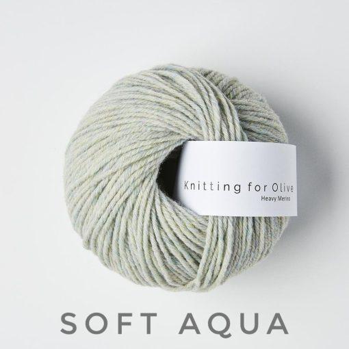 Knitting for olive heavy soft aqua