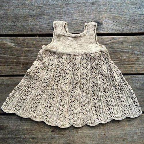 Knitting for Oliven neuleohje lasten neulottuun pitsimekkoon