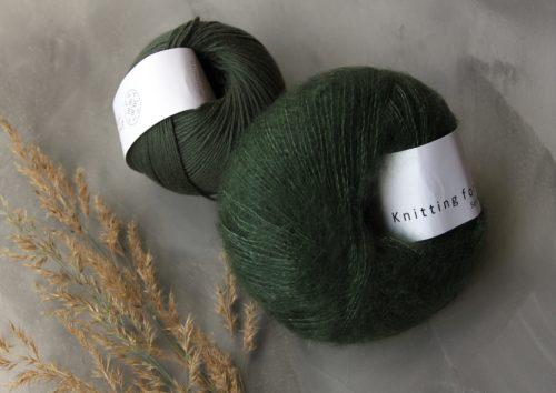 Krea Deluxe Cotton45 ja KFO silk mohair Bottle Green