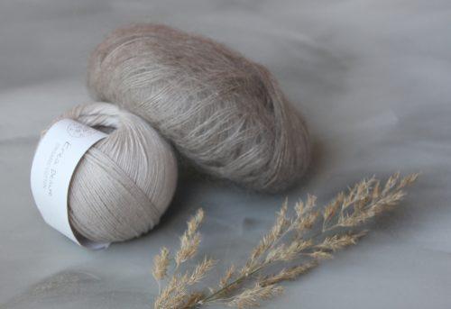 Krea Deluxe Cotton17 ja KFO silk mohair Linen